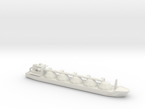 1/1800 Scale LNG Tanker in White Natural Versatile Plastic