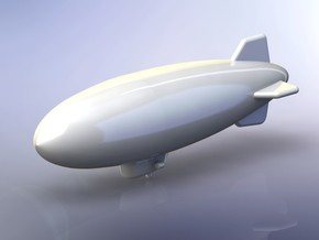 US Navy K3 Class Blimp 1/1800 in Smooth Fine Detail Plastic