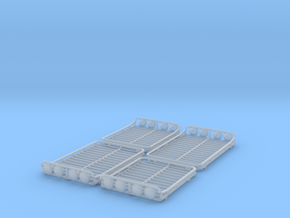 Set of 4 - Roof Basket with Lights two Lengths in Smooth Fine Detail Plastic