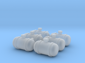 Set of 6 - Gasser Fuel Tanks  in Smooth Fine Detail Plastic