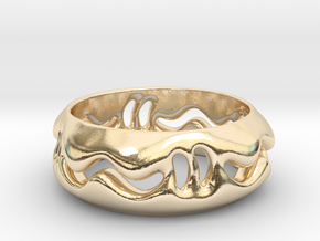 Under the surface snake  in 14k Gold Plated Brass: 7 / 54