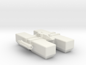 Omni Scale LDR Large Freighter (Class-II) CVN in White Natural Versatile Plastic