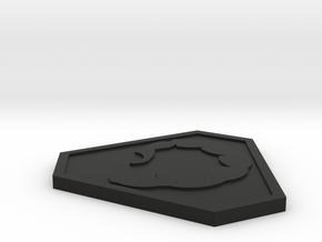 Command and Conquer NOD Logo in Black Natural Versatile Plastic