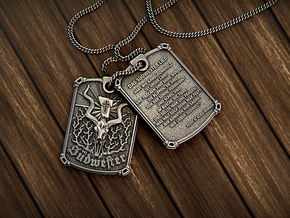 Sudwester Tag - Pendant in Antique Silver