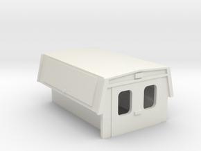 Utility Enclosure Truck Bed 1-72 Scale in White Natural Versatile Plastic