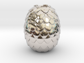 Dragon Egg Game of Thrones Pandora Charm in Platinum