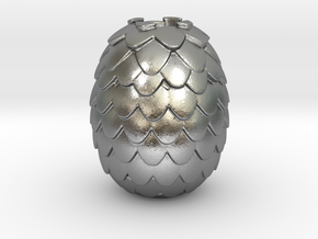 Dragon Egg Game of Thrones Pandora Charm in Natural Silver
