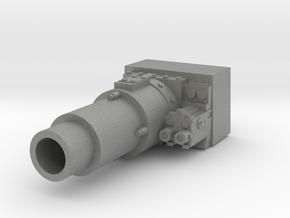 28mm short gun for tank in Gray PA12