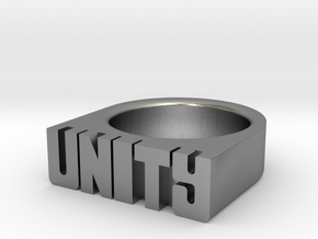 15.7mm Replica Rick James 'Unity' Ring in Natural Silver