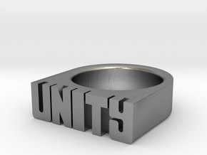 18.9mm Replica Rick James 'Unity' Ring in Natural Silver