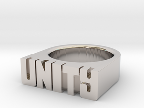 16.0mm Replica Rick James 'Unity' Ring in Platinum