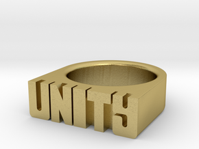 18.2mm Replica Rick James 'Unity' Ring in Natural Brass