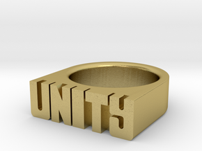 19.8mm Replica Rick James 'Unity' Ring in Natural Brass