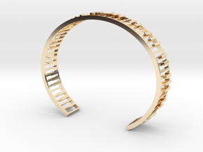 Piano Bracelet in 14K Yellow Gold: Small