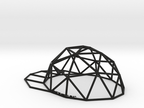 Hat in Black Natural Versatile Plastic