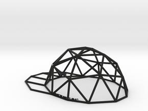 Hat in Black Natural Versatile Plastic