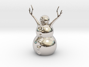 Snow Man in Rhodium Plated Brass
