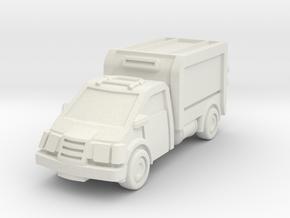 Box Truck in White Natural Versatile Plastic: 15mm