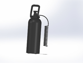 CO2 Tank With Hose in Black Natural Versatile Plastic