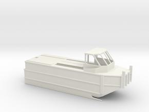 1/87 Scale Army Bridge Erection Boat in White Natural Versatile Plastic