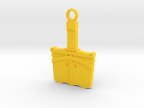 Titanic Pendant: Bow Profile in Yellow Processed Versatile Plastic