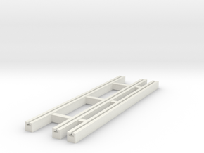 Dual Gauge Baulk Road Sleepers (N Scale) in White Natural Versatile Plastic