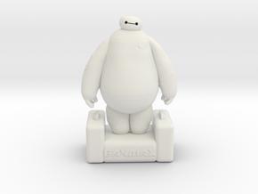 Baymax - Big Hero 6 in White Natural Versatile Plastic