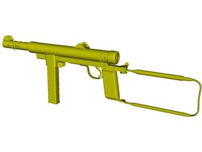 1/24 scale Carl Gustav M-45 submachinegun x 1 in Smooth Fine Detail Plastic