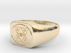 Ring of Detect Magic in 14k Gold Plated Brass: 5 / 49