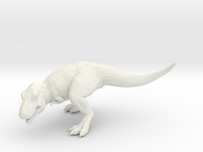 T-Rex Tyrannosaurus 28mm miniature for games - rpg in White Natural Versatile Plastic