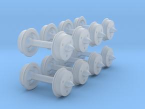 "N-gauge 2'9"" 3-hole disc wheels in Smoothest Fine Detail Plastic"