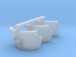 Nova Star Marines Centaur Shoulder pads x3 in Smooth Fine Detail Plastic