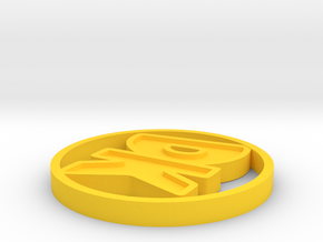 Initials Disk in Yellow Processed Versatile Plastic