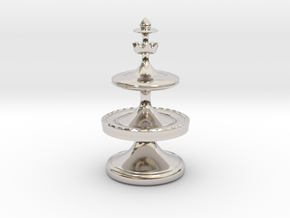 Royal Mann (King) - [1,0/1,1] Craxton in Rhodium Plated Brass
