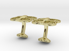 Drone Cufflinks in 18k Gold
