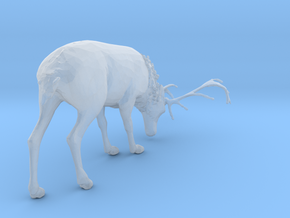 S Scale Grazing Deer in Smooth Fine Detail Plastic