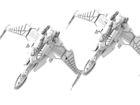 Two Bird Of Prey Cruiser in White Strong & Flexible