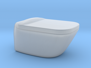 1:12 Toilet with lid, wall-hung in Smooth Fine Detail Plastic