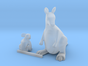 S Scale Koala Bear  and Kangaroo in Smooth Fine Detail Plastic