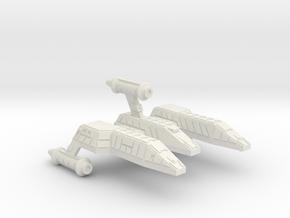 3788 Scale Lyran Refitted Jaguar-E  CVN in White Natural Versatile Plastic