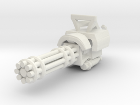Miniature mini Gun  in White Natural Versatile Plastic