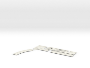 SINGLE TURNOUT X  DOUBLE TRACK  LEFT in White Natural Versatile Plastic