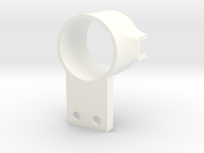 Gizmo V1 Knuckle Mount Right in White Processed Versatile Plastic
