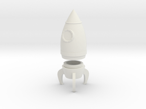 Rocket Container in White Natural Versatile Plastic: Extra Small