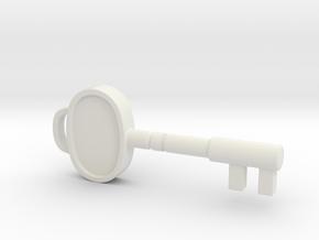 Resident Evil Sickroom Key in White Natural Versatile Plastic