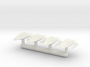 1/1000 Voyaging Shuttle 4pk in White Premium Versatile Plastic