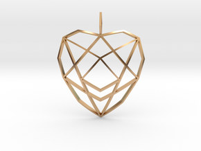 Crystalline Heart Matrix (Curved) in Polished Bronze