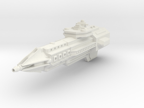Dominion Class Heavy Cruiser - Without turrets in White Natural Versatile Plastic