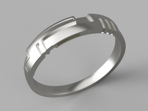 Digital Ring in Polished Silver