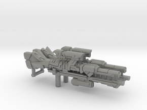 Universe Rail Laser Rifle (3mm, 5mm) in Gray PA12: Small